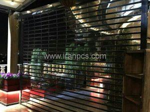 کرکره پلی کربنات در رستوران خیابان ظفر