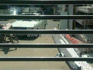کرکره پلی کربنات شفاف ساخته شده از مواد آلمانی