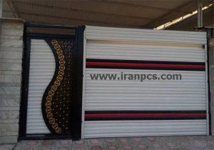 کرکره برقی آلومینیومی نصبشده در پارکینگ