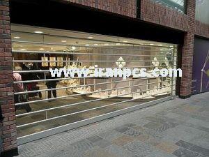 کرکره پلی کربنات نصب درب فروشگاه