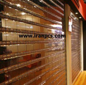 کرکره پلی کربنات نصب روی درب اتوماتیک