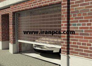 کرکره پلی کربنات نصب در محوطه پارکینگ
