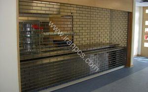 کرکره پلی کربنات نصب در جواهرفروشی