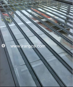 درب کرکره شیشه ای پلی کربنات