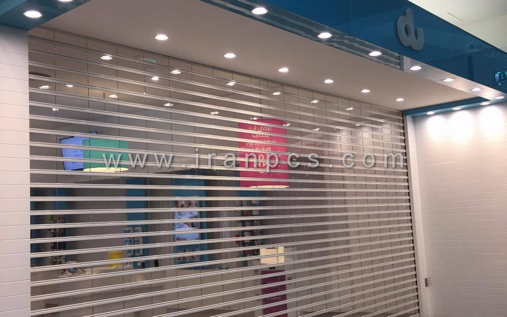 کرکره مغازه شفاف